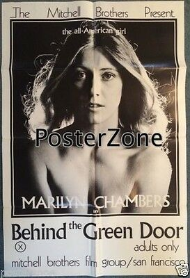 Behind the Green Door 1972 Adult Movie Poster 24x36 Marilyn Chambers *GENUINE*