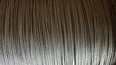 """T-304 Grade 7 x 19 Stainless Steel Cable Wire Rope 1/4""""- 50 ft"""