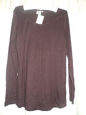 New With Tags - Next Maternity - Long Sleeve Top - Size 16 - Cotton - Burgundy