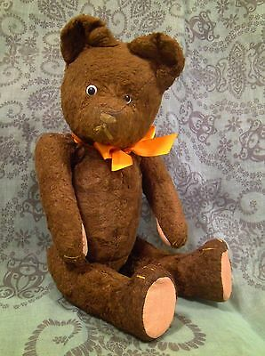 """Lovely vintage Hungarian teddy bear with growler 36cm - 14,2"""" 1950's"""