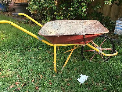 vintage wheelbarrow. Good For Portable Herb Garden