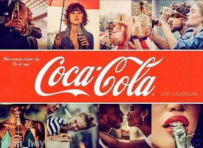 "2017 Coca Cola Wall Calendar 12 Month ""Official Calendar"" Free Shipping"