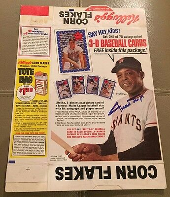 Willie Mays Signed Corn Flakes Cereal Full Box Autographed AUTO