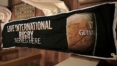 Guinness Banner, Live International Rugby Served Here 9ftx2ft