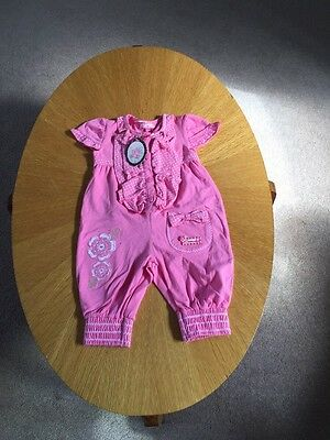 Pretty Pink All In One / Baby Grow. Age 12m. NWT From Limonada