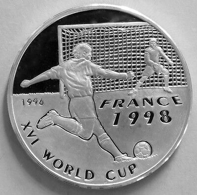 Afghanistan 500 Afghanis 1998 XVI World Cup France 1998 Silver Proof