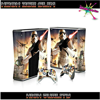 STAR WARS STORM TROOPER | Full Skin Sticker Kit for Xbox 360 Console & 2 remotes