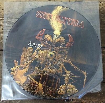 Rare signed Sepultura picture disc Arise vinyl record