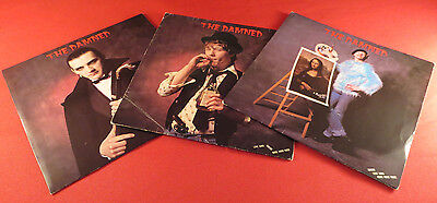 """The Damned - Love Song - 3 x 7"""" Inch Singles - Collectable!"""