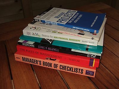 7 x MANAGEMENT, TEAMBUILDING, INTERVIEW, FINANCE books for managers. VGC.