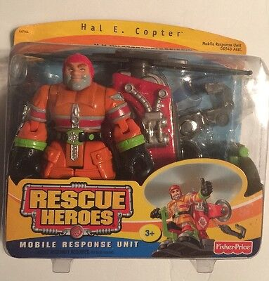 Rescue Heroes Mobile ResponseUnit Hal E. & Copter New