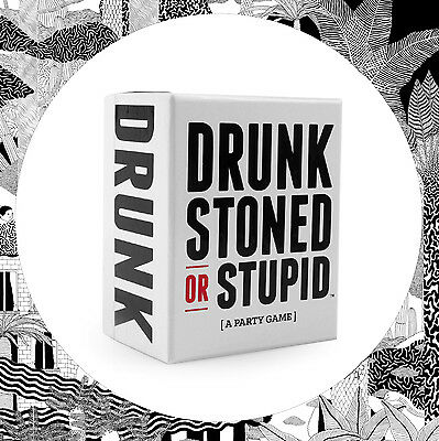 Drunk, Stoned Or Stupid Card Game- Original Party Social Games Kickstarter Boxed
