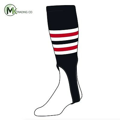 "TCK® X-Large, 700I, 7"" - Black–White–Scarlet Red - MLB® Baseball Stirrups"