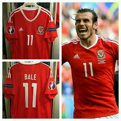 Maglia Galles Bale Euro 2016 Wales No Real Madrid Shirt Jersey Football Soccer