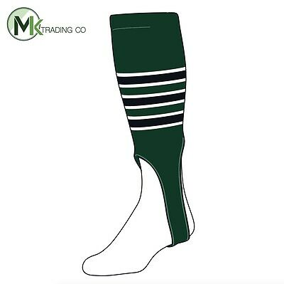 "TCK® X-Large, 700D, 7"" - Dark Green–White–Black - MLB® Baseball Stirrups"