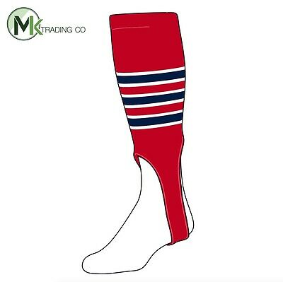 "TCK® X-Large, 700D, 7"" - Scarlet Red–White–Navy Blue - MLB® Baseball Stirrups"