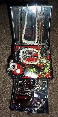 mixed lot unwanted costume jewelry crafts repair wear (1st lot)