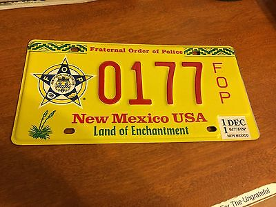 2011 New Mexico License Plate Police