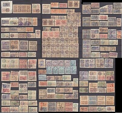 Syria Syrie Mostly Alaouites Revenue Fiscaux Collection Of 242 Stamps