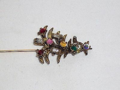 Hollycraft Stick Pin Vintage Crystal Stones Very Rare!