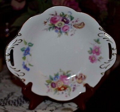 Vintage Coalport England Fine Bone China, Junetime, Twin Handled Shallow Bowl EX