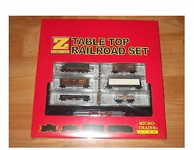 Brand New Western Pacific Table Top Railroad Z Scale Set