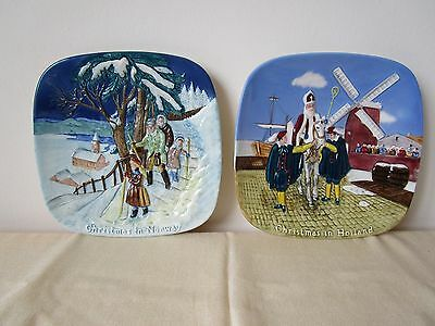 Beswick Christmas in Norway & Holland. 2 Collector's Plate