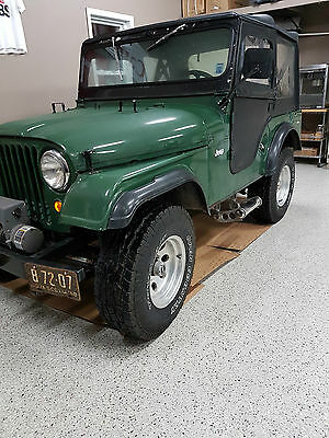 Jeep: Other 1958 4 cylinder JEEP convertible Leather seats with winch on the front