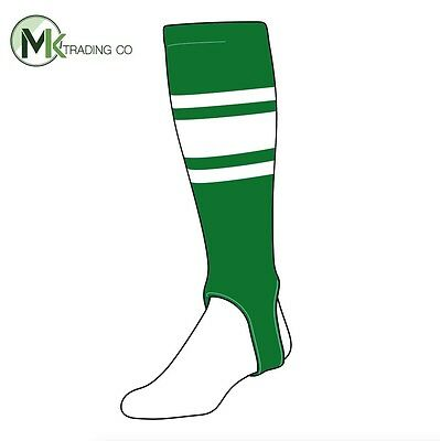 "TCK® X-Large, 700C, 4"" - Kelly Green–White - MLB® Baseball Stirrups"