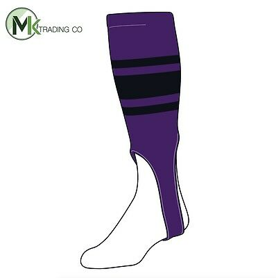 "TCK® X-Large, 700C, 7"" - Purple–Black - MLB® Baseball Stirrups"