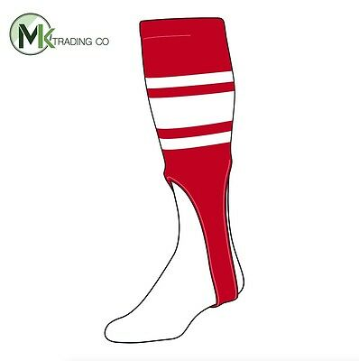 "TCK® X-Large, 700C, 9"" - Scarlet Red–White - MLB® Baseball Stirrups"
