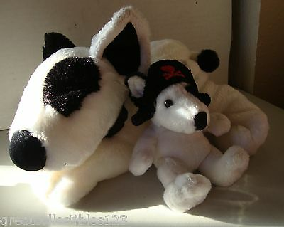 Max The Bull Terrier & Pup Plush Toys New
