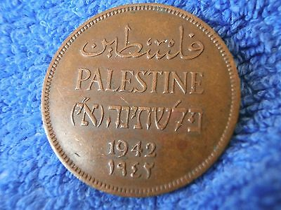 Palestine: 1942 Scarce Grade  Bronze 2 Mils  Very Fine Plus!!