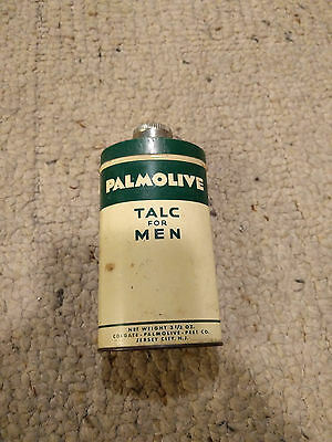 Vintage Palmolive After Shave Talc For Men Talcum Powder Collectible Tin .5 Full