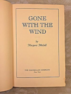 Gone with the Wind Book 1st Edition Margaret Mitchell 1936