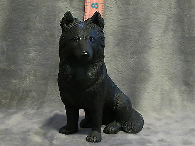 Belgian Sheepdog Plaster Dog Statue Hand Cast And Painted By T.c. Schoch