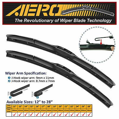 "AERO Hybrid 22"" + 22"" OEM Quality Windshield Wiper Blades (Set of 2)"