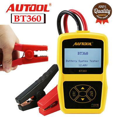 AUTOOL BT-360 12V Battery System Tester AGM GEL Lead Acid Charging Tester