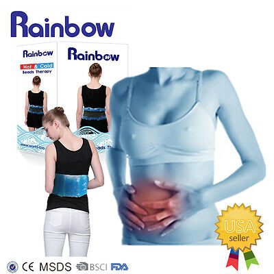 Rainbow Beads Ice Pack Hot Cold Therapy Gel Bead belly abdomen Winter Warmer