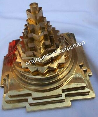 Pure Brass Meru Yantra Business Increment Yantra Hinduism Solid Brass Yantra