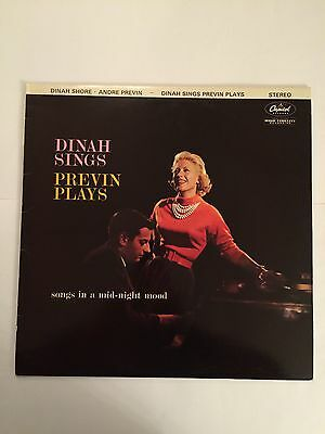 "Dinah Sings Previn Plays -  12"" Lp Vinyl Record"