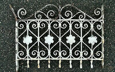 Antique wrought iron window guard garden gate wall art