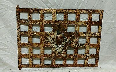Antique wrought iron window guard wall art
