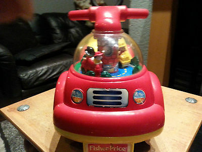 Fisher Price Little People Ride Or Push Used Fire Engine