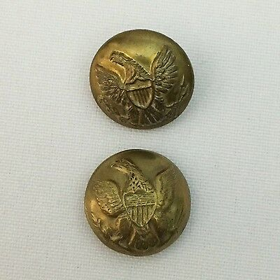 2 Slightly Different Union U. S. Army Brass Buttons Circa 1850-1900 Un Marked