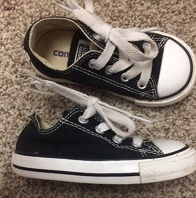 Infant Toddler Size 6 Converse Chucks All Star Casual Shoes Black