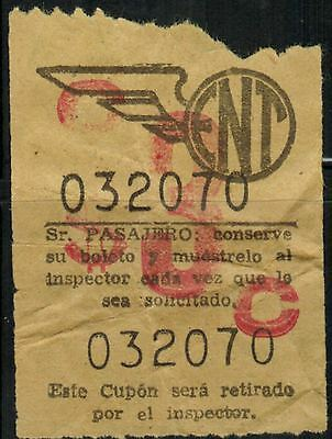 Chile Old Ticket Bus ENT (X004)