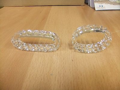 Crystal Napkin Rings - 2 Different Shapes