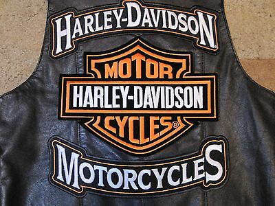 Harley Davidson Motorcycles 3Xl Rocker Panel Patches (Rockers Only) Look Now*