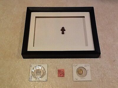 EGYPT ANKH 600-300BC COIN 1370 1378 STAMP 5M 1888 Certificate of Authenticity